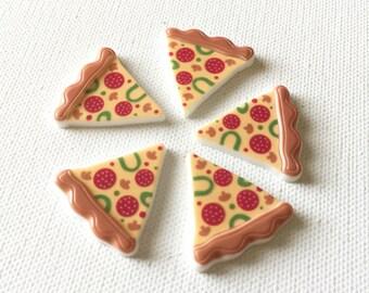 Pizza Thumbtacks, Pizza Pushpins, Pizza Cork Board Decor, Pizza Magnets, Junk Food Thumbtacks, Junk Food Magnets, Pizza Slice Thumbtacks