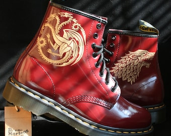 Custom Game of Thrones Dr Martens boots Docs shoes
