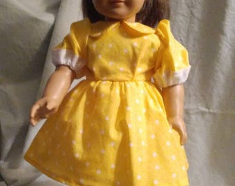 Yellow w/ white polka-dots dress