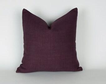 Plum Linen Pillow Cover