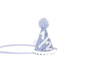 Birthday Party Hat || Half Birthday Hat  || Girl Birthday Party Hat || Lavender Party Prop || Little Blue Olive
