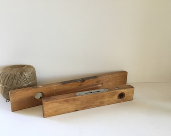 Levels tools, vintage wooden level, old rustic tools, collectors tool,sprit level, patina, Australian x 2