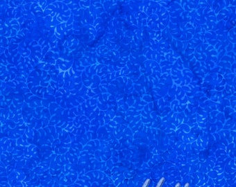 Batik Blue Waikiki Vines Hoffman Fabric