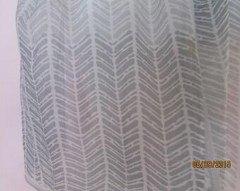 grey and white Glentex vintage  nylon scarf
