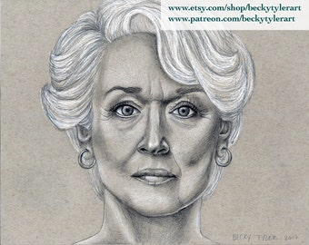 Meryl Streep, The Devil Wears Prada, Original Drawing