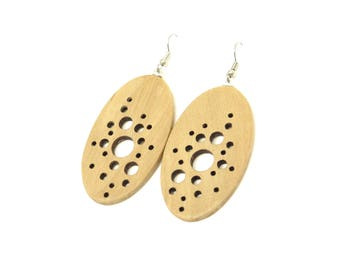 Abstract Galaxy (Sassafras wood earrings)