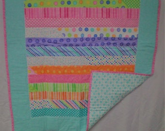 Colorful Strip Quilt – The Cuddly Quilt