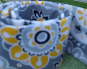 DSLR- Camera Strap Cover  Gray and Yellow Floral