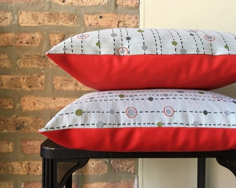 Sunbrella Pillow | Texture Pillow | Outdoor Pillow | Indoor Outdoor Cushion | Game Room Decor | Red Pillow |Mid Century Pillow |Patio Pillow