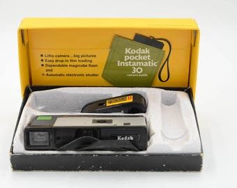 Kodak Pocket Instamatic X-30 Camera In Original Box With 110 Cartridge