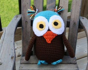 Winged Owl Stuffie Crochet Pattern PDF Pattern Owl Plush Toy Permission to Sell