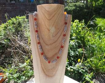 Carnelian byzantine necklace