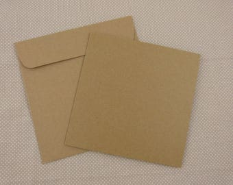 card and Kraft envelope