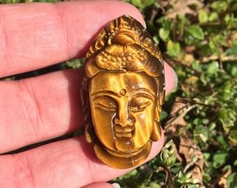 Tiger eye Buddha Head