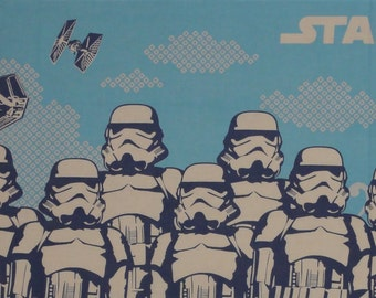 Star Wars Fabric Stormtroopers Cotton Japanese Tenugui Cloth w/Free Insured Shipping