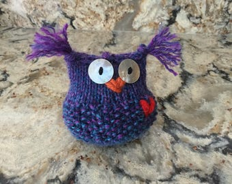 Violet the Owl Handknit......friends and nest not included !