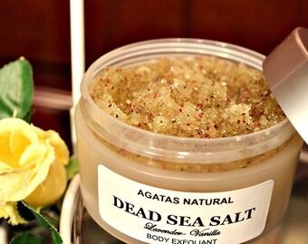 Dead Sea Salt Polish/ Body Exfoliant/ Body Scrub
