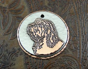 Personalized Spinone Dog ID Tag-Custom Dog Tag-Pet Collar ID Tag-Handmade Spinone Dog Tag-Dog Collar ID Tag