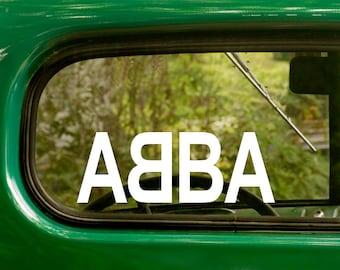 ABBA Band Decal, 2 Stickers, Pop Music Decal, Music, Vinyl Sticker For Car Truck Rv Jeep Bumper Window