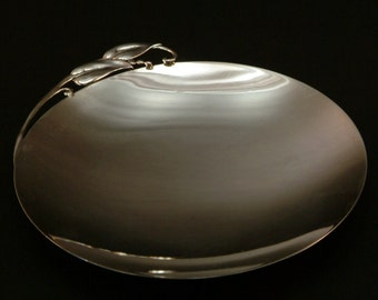 RARE Reed & Barton Sterling Danish Mid Century Dish with Calla Lillies