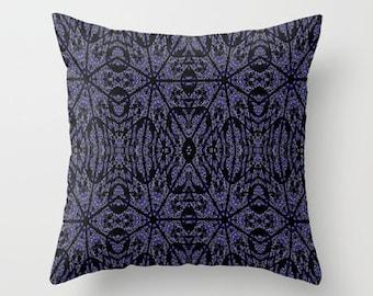 Pillow Cover, Throw Pillow,Blue and Black Pillow,Dorm Decor,Black Pillow, Living Room Decor, Bedroom Decor, Masculine Decor, Office Decor