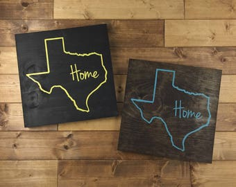 Pick Colors, Texas Wood Sign, Texas gift, Texas Sign, Texas plaque, Texas decor, Texas art, Texas Guest Book, Painted, Wood signs