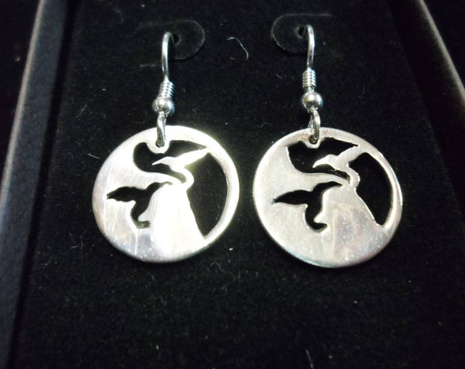 Reflection butterfly dime earrings