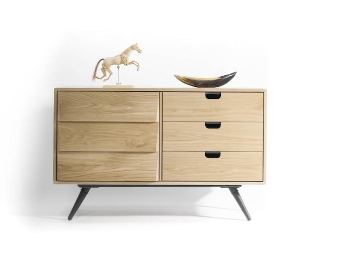 Sideboard, dresser, cupboard, credenza in solid board oak , Mid century