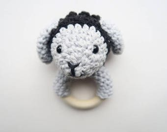 Sheep Lilly-Rattle & Teether