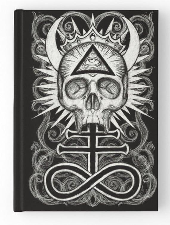 Illuminati Skull with Leviathan Cross Spell Book, Journal, Grimoire