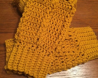 Cable Look Crochet Legwarmers