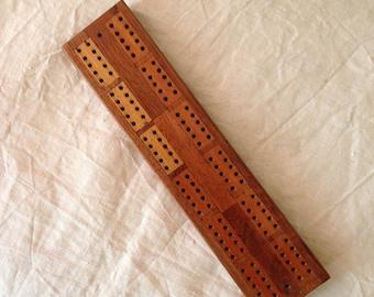 Vintage Cribbage Board - Wooden Cribbage Board - Vintage Games - Pub Games