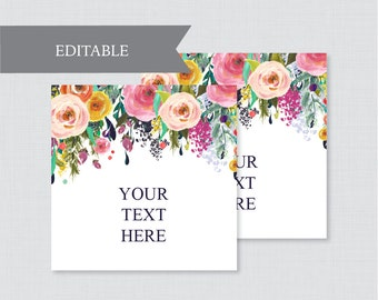 Editable tags etsy for Flower tags template free