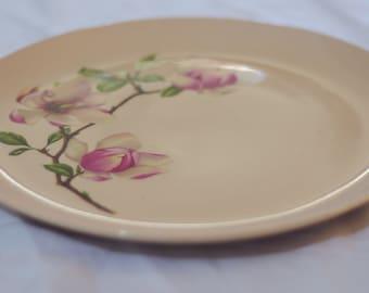 Crooksville Pink Magnolia Dinner Plates
