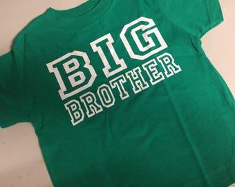Big Brother Shirt, pregnancy reveal idea, baby announcement shirt, Big Brother gifts for brother, sibling big little shirts, photo prop idea