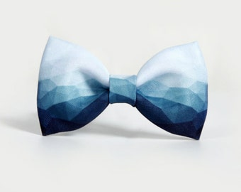 Lovers bowtie, couple bow,gift for him & her, Graduated Blue and pink with fine texture, summer handwork accessories, partysu,Adjustable