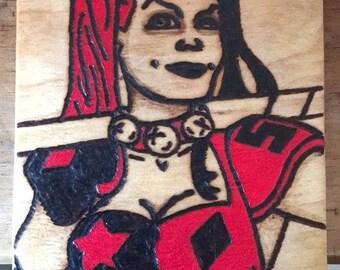 Harley-Quinn Wooden Plaque
