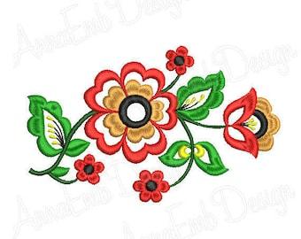 Flower Embroidery Design Rose Machine Decoration Folk