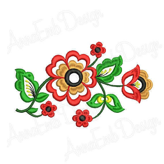 Flower Embroidery Design Rose Embroidery Design Machine Embroidery