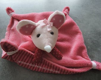 Pink mouse Plushie for baby & child