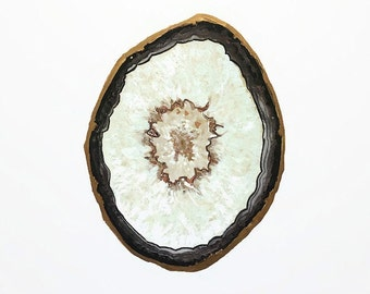 Black Tourmaline Agate Slice Print, Crystal Print, Gemstone Print, Mineral Art, Boho Decor, Crystal Decor, Crystal Art, Agate Art, Gem Print