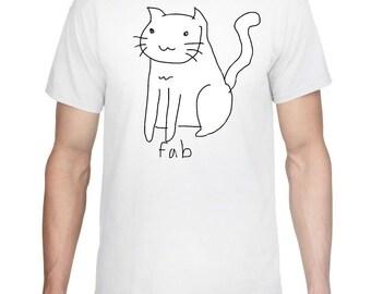 Unique Custom Fab Cat T-Shirt