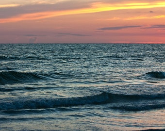 Fine Art Photography, Large Ocean at Sunset Photograph, Surreal Ocean, 24x30 Print by Tricia McKellar, No. 8664