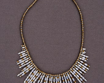 SILVER and gold beads in Cleopatra style: