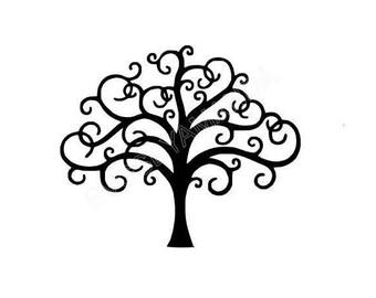 Swirly Tree SVG