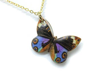 "Butterfly Gold 18"" Necklace"