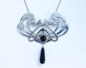 Art Nouveau Swirl Necklace