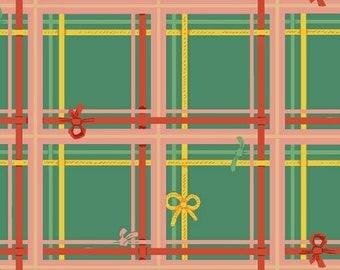 Sugarplum by Heather Ross for Windham Fabrics - Plaid - Spruce - 50168-8 - 1/2 Yard Cotton Quilt Fabric