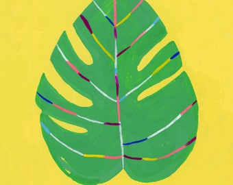 Color Is Life/Monstera leaf by Sarah Walsh