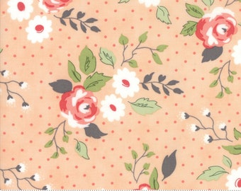 Nest Fabric by Lella Boutiquee for Moda, #5060-19, Floral, Full Bloom Blush, Peach - IN STOCK
